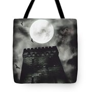 Haunted Dark Castle Tote Bag