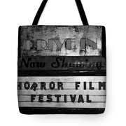 Haunted Drive In Tote Bag