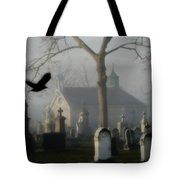 Haunted Halloween Cemetery Tote Bag