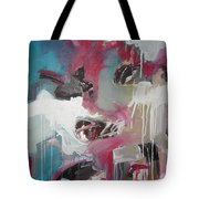 Haunted Voice-blue Red Painting Tote Bag