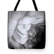 Haunting Beauty Monochrome Rose Tote Bag