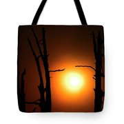 Haunting Sunrise Tote Bag