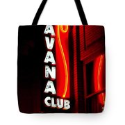 Havana Club At Night Tote Bag