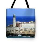 Havana Harbor Lighthouse Tote Bag