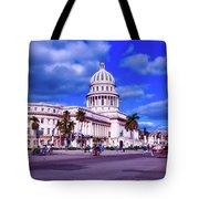 Havana National Capitol Tote Bag
