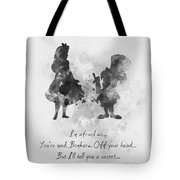 Have I Gone Mad? Black And White Tote Bag