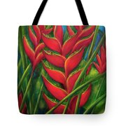 Hawaii Heliconia Flowers #445 Tote Bag