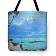Hawaii Night Seascape Tote Bag