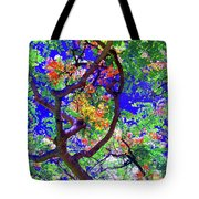 Hawaii Shower Tree Flowers In Abstract Tote Bag
