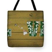 Hawaii State Love License Plate Art Phrase Tote Bag