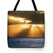 Hawaii Sunset Panorama Tote Bag