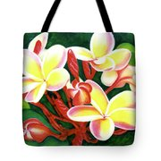 Hawaii Tropical Plumeria Flower #205 Tote Bag