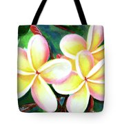 Hawaii Tropical Plumeria Flower #213 Tote Bag