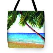 Hawaiian Beach Palm Trees  #425 Tote Bag