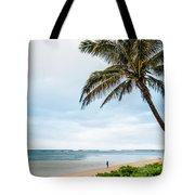 Hawaiian Boy Fishing Tote Bag