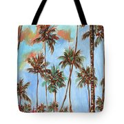 Hawaiian Cottage With Pink And Red Tropical Flowers Tote Bag