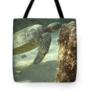 Hawaiian Green Sea Turtle Tote Bag
