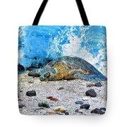 Hawaiian Green Turtle Honu Tote Bag