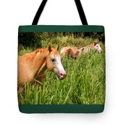 Hawaiian Horses In Sugar Cane Tote Bag