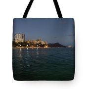 Hawaiian Lights - Waikiki Beach And Diamond Head Volcano Crater Tote Bag