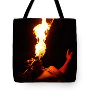 Hawaiian Luau Fire Eater Tote Bag