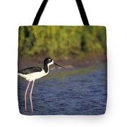 Hawaiian Stilt Bird In Water Tote Bag