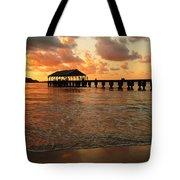 Hawaiian Sunset Hanalei Bay 1 Tote Bag