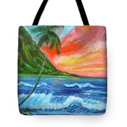 Hawaiian Sunset  Tote Bag