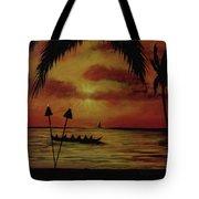 Hawaiian Sunset Paddlers #283 Tote Bag