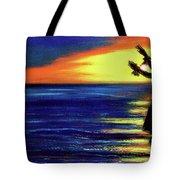 Hawaiian Sunset With Hula Dance  #183, Tote Bag