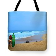 Hawaiian Surfer Girl Tote Bag