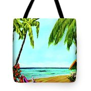 Hawaiian Tropical Beach #367  Tote Bag