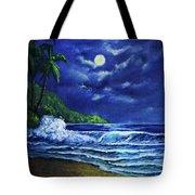 Hawaiian Tropical Ocean Moonscape Seascape #377 Tote Bag