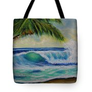 Hawaiian Tropical Wave Art Print Painting #424 Tote Bag