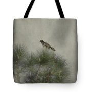 Hawk In The Treetop Tote Bag