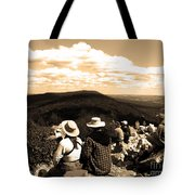Hawk Mountain In Sepia Tote Bag