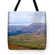 Hawk Soaring Over Guanella Pass In The Arapahoe National Forest Tote Bag