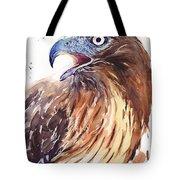Hawk Watercolor Tote Bag