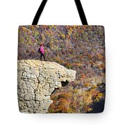 Hawksbill Crag In Autumn Tote Bag