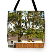Hay Bales And Trees Tote Bag