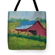 Hay Bales In Morning Light Tote Bag