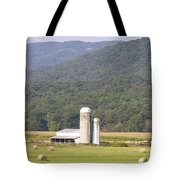 Hay Farm In The Country Tote Bag by Danielle Allard
