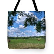 Hay Field In Summertime Tote Bag
