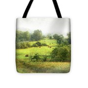 Hay Fields Tote Bag