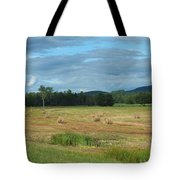 Hay Fields In The Adirondacks Tote Bag
