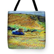 Hay Harvest On The Coast Tote Bag