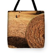 Hay In The Field Tote Bag