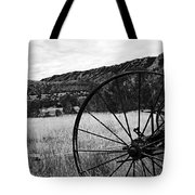 Hay Rake At The Ewing-snell Ranch Tote Bag by Larry Ricker