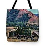 Hay Wagons Tote Bag