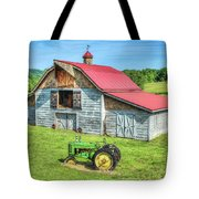 Hayesville Barn And Tractor Tote Bag